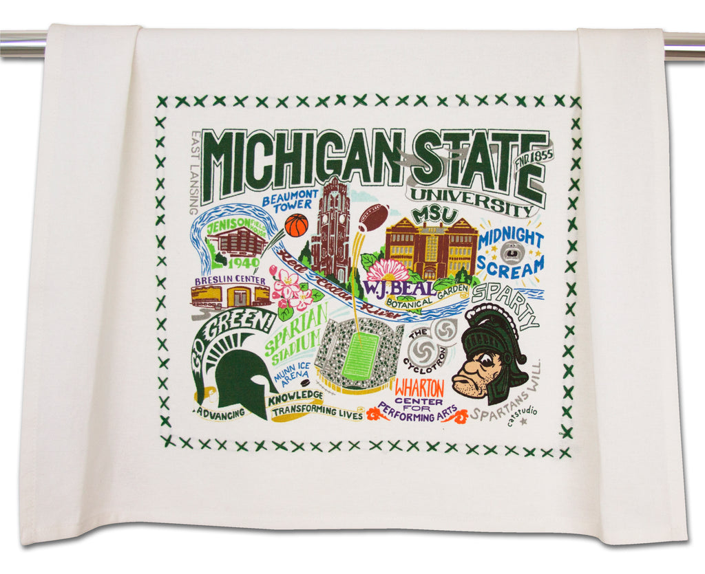 MICHIGAN STATE UNIVERSITY DISH TOWEL - CityBarnCountryPenthouse