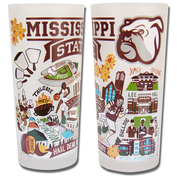 Mississippi State University Drinking Glasses - Set Of 4 - CityBarnCountryPenthouse