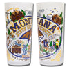 Montana State University Drinking Glasses - Set Of 4 - CityBarnCountryPenthouse