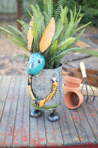 Repurposed military canister rabbit planter - CityBarnCountryPenthouse
