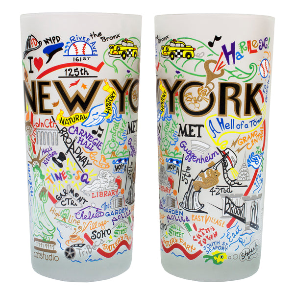 New York City Drinking Glasses - Set Of 4 - CityBarnCountryPenthouse