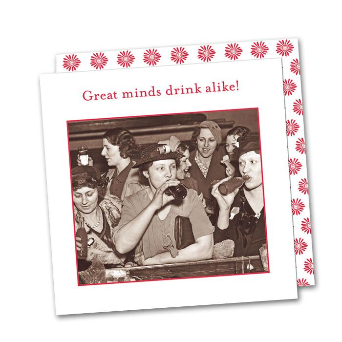 Great minds drink alike Napkin Pk/20 - CityBarnCountryPenthouse