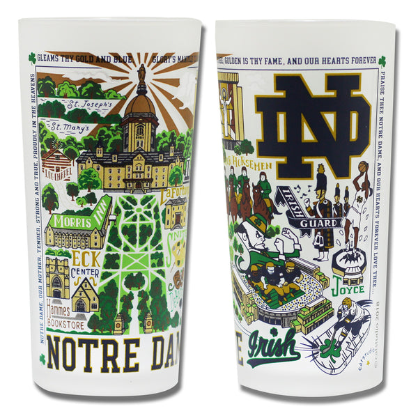 Notre Dame Drinking Glasses - Set Of 4 - CityBarnCountryPenthouse