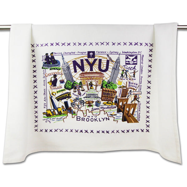 New York  University Dish Towel - CityBarnCountryPenthouse