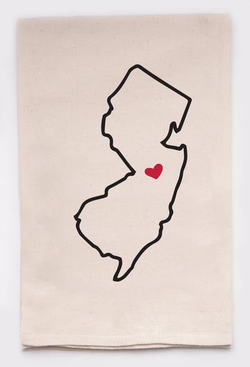 LOVE MY STATE DISH TOWEL - NEW JERSEY - CityBarnCountryPenthouse