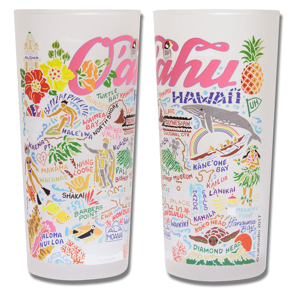 Oahu Drinking Glasses - Set Of 4 - CityBarnCountryPenthouse