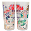 University Of Mississippi (Ole Miss) Drinking Glasses - Set Of 4 - CityBarnCountryPenthouse