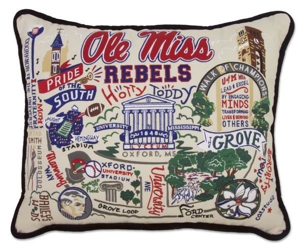 University Of Mississippi (Ole Miss) Pillow - CityBarnCountryPenthouse