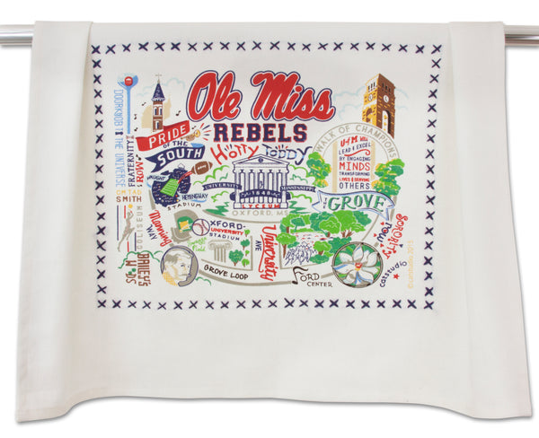 University Of Mississippi (Ole Miss) Dish Towel - CityBarnCountryPenthouse
