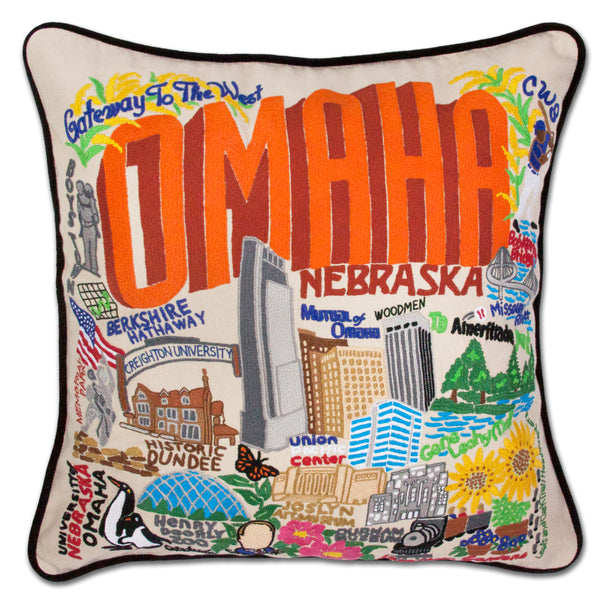 Omaha City Pillow - CityBarnCountryPenthouse