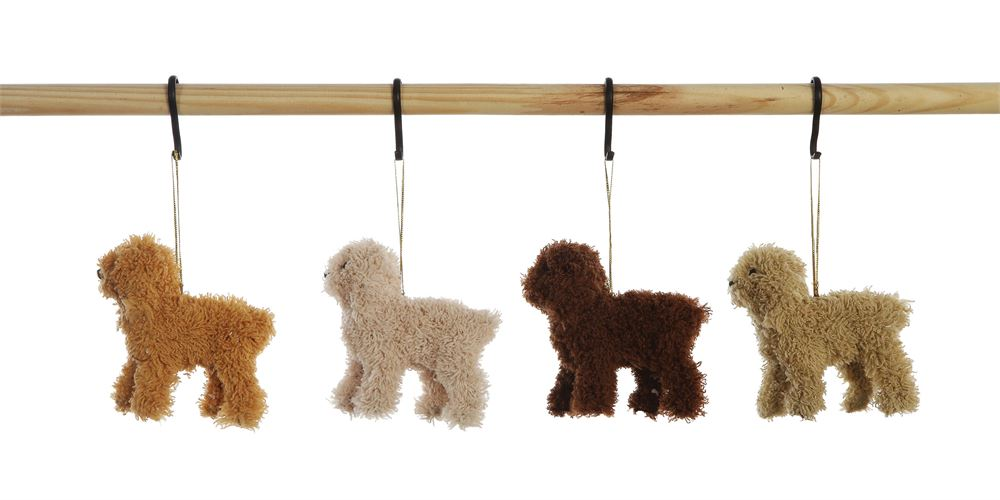 FUR POODLE ORNAMENT - CityBarnCountryPenthouse