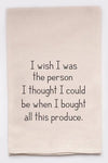 PRODUCE PERSON DISH TOWEL - CityBarnCountryPenthouse