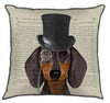 Dachshund, Formal Hound and Hat
