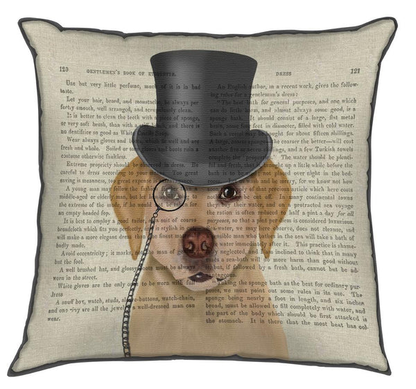Yellow Labrador, Formal Hound and Hat - CityBarnCountryPenthouse