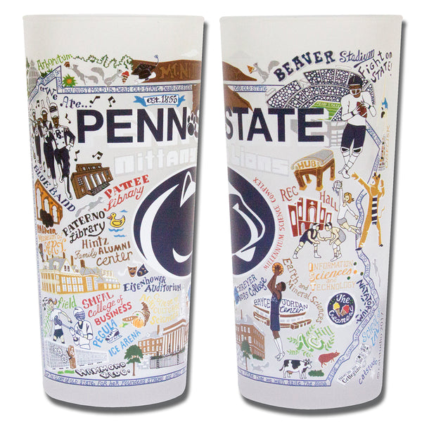 Penn State University Drinking Glasses - Set Of 2 - CityBarnCountryPenthouse