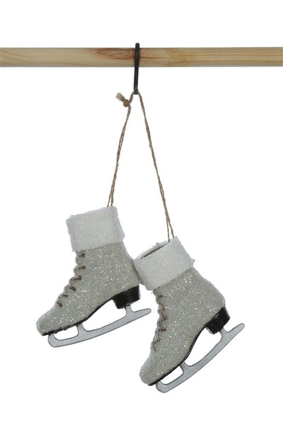 Plastic Ice Skates Ornament w/ Glitter - CityBarnCountryPenthouse