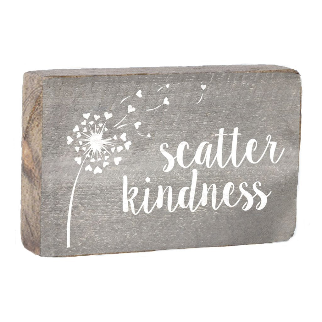 SCATTER KINDNESS XL RUSTIC BLOCK - CityBarnCountryPenthouse