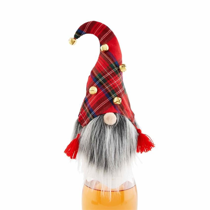 RED GNOME WINE BOTTLE COVER - CityBarnCountryPenthouse