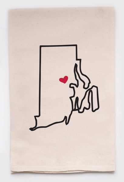 LOVE MY STATE DISH TOWEL - RHODE ISLAND - CityBarnCountryPenthouse