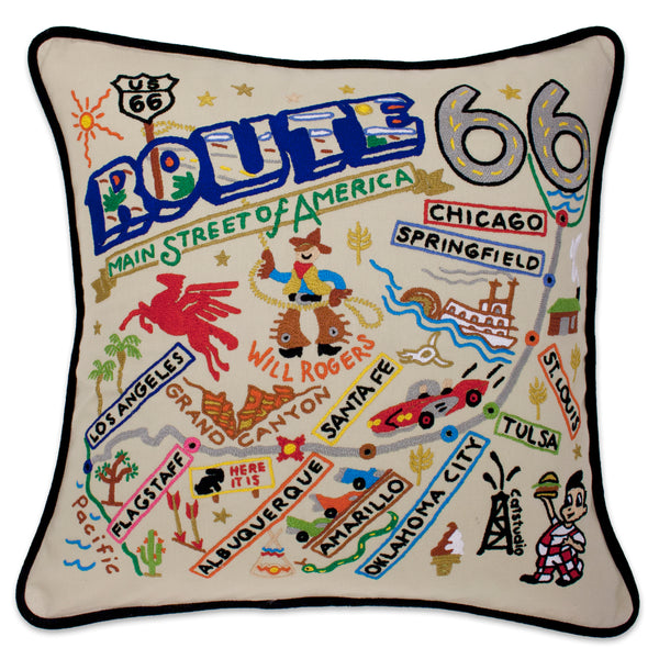 Route 66 Pillow - CityBarnCountryPenthouse