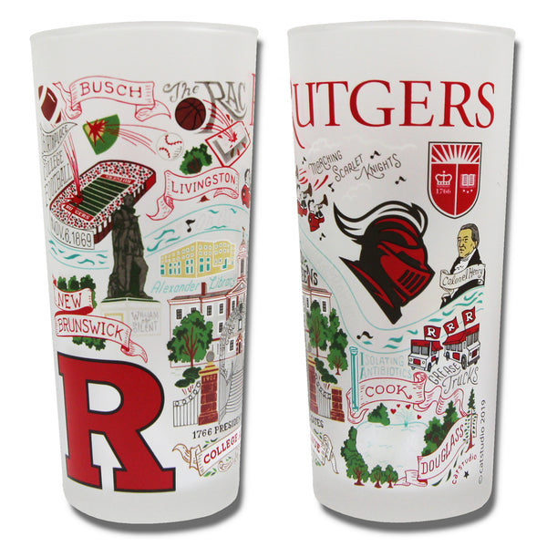 Rutgers University Drinking Glasses - Set Of 4 - CityBarnCountryPenthouse