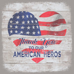 THANK YOU AMERICAN FLAG HEART BLOCK - CityBarnCountryPenthouse