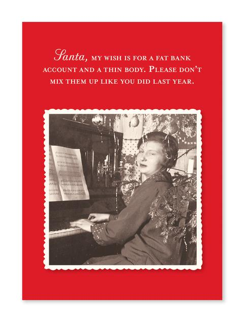 Fat Account Christmas Card - CityBarnCountryPenthouse