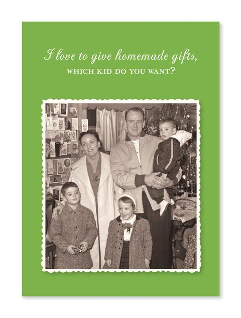 Homemade Gifts Christmas Card - CityBarnCountryPenthouse