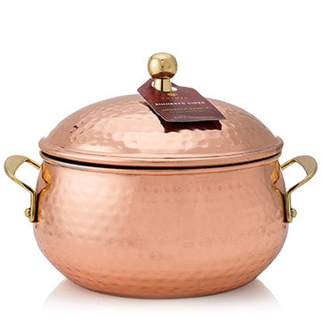 SIMMERED CIDER CANDLE, COPPER POT - CityBarnCountryPenthouse
