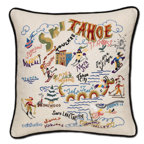 Ski Tahoe Pillow - CityBarnCountryPenthouse