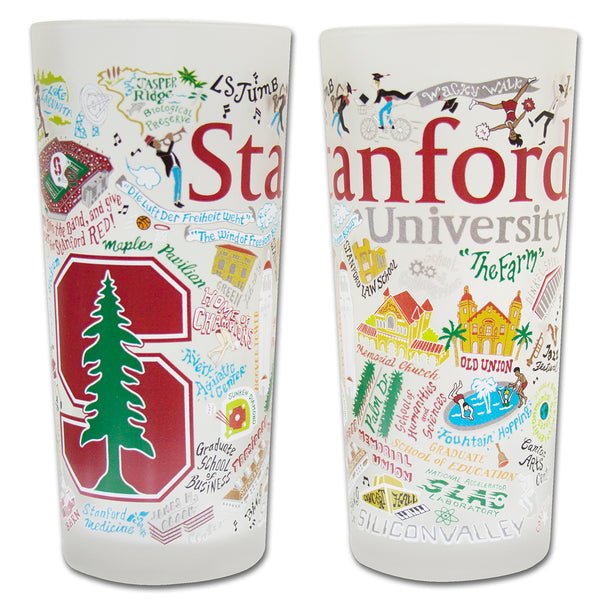 Stanford University Drinking Glasses - Set Of 4 - CityBarnCountryPenthouse