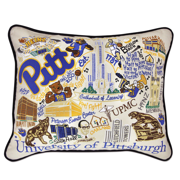 University Of Pittsburgh (Pitt) Pillow - CityBarnCountryPenthouse