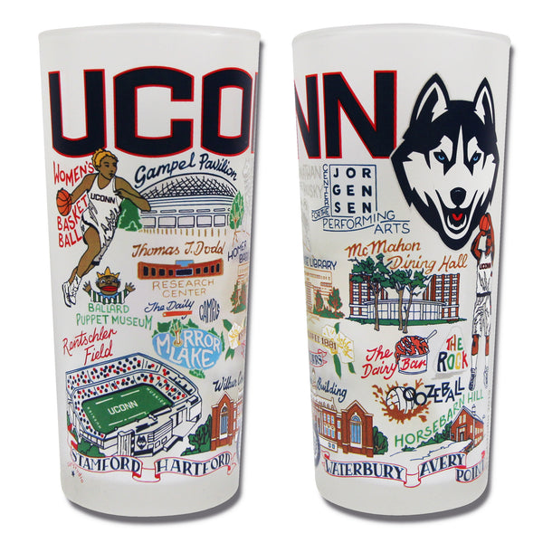 University Of Connecticut (Uconn) Drinking Glasses - Set Of 4 - CityBarnCountryPenthouse