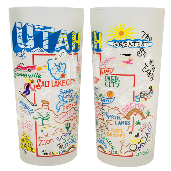 Utah Drinking Glasses - Set Of 4 - CityBarnCountryPenthouse