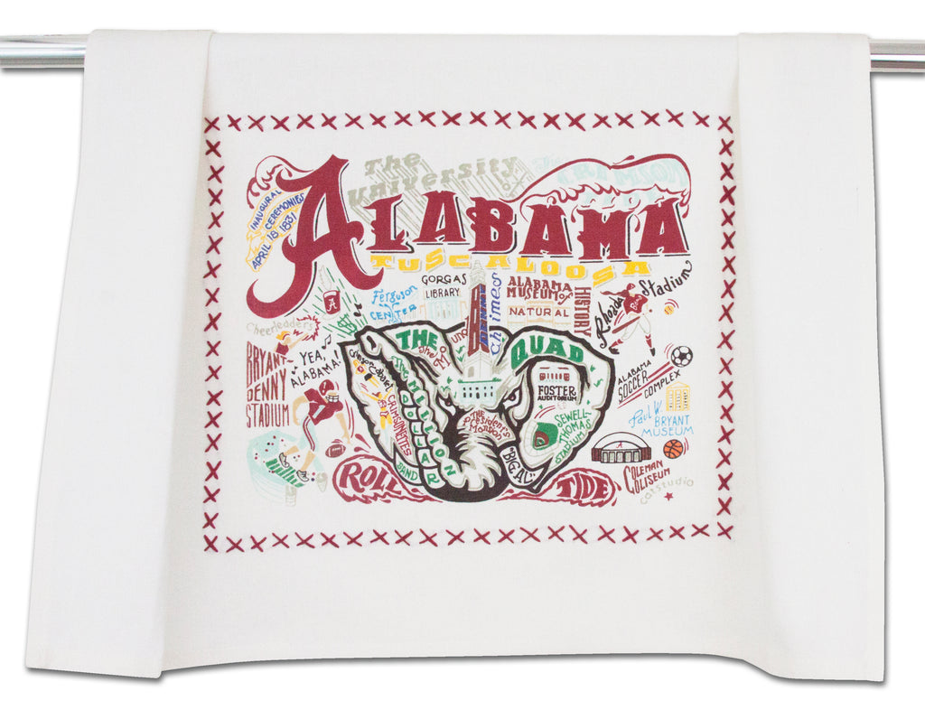 UNIVERSITY OF ALABAMA DISH TOWEL - CityBarnCountryPenthouse