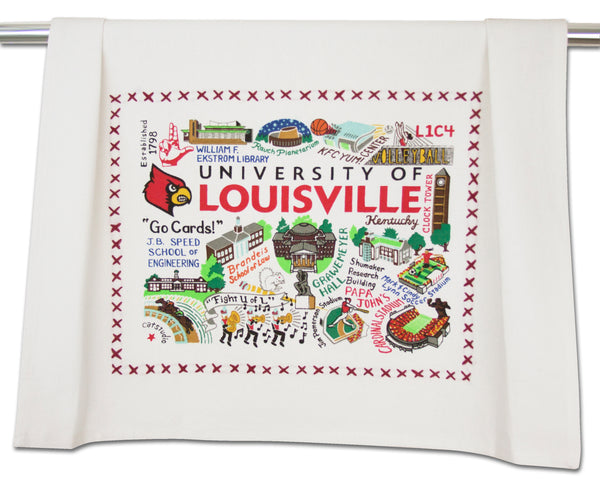 University Of Louisville Dish Towel - CityBarnCountryPenthouse
