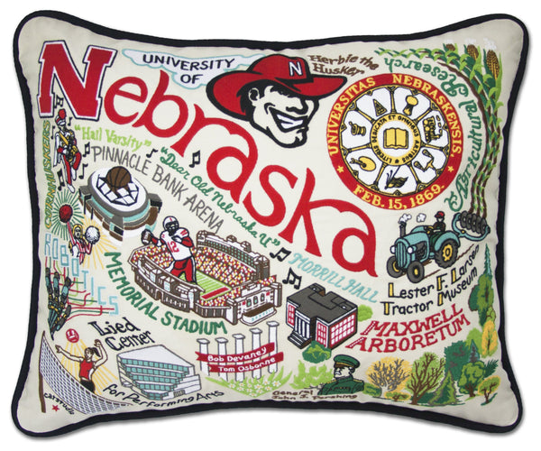 University Of Nebraska Pillow - CityBarnCountryPenthouse