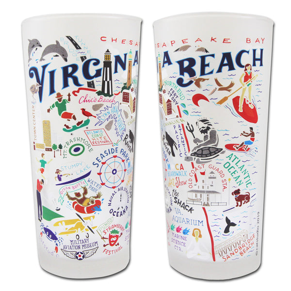 Virginia Beach Drinking Glasses - Set Of 4 - CityBarnCountryPenthouse