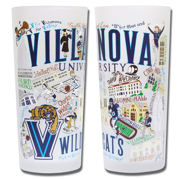 Villanova University Drinking Glasses - Set Of 4 - CityBarnCountryPenthouse