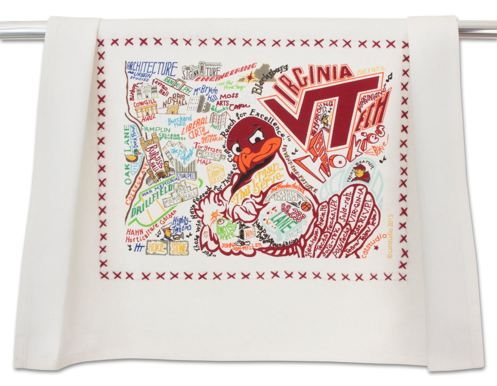VIRGINIA TECH DISH TOWEL - CityBarnCountryPenthouse