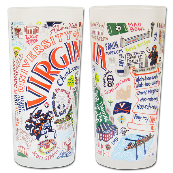University Of Virginia Drinking Glasses - Set Of 4 - CityBarnCountryPenthouse