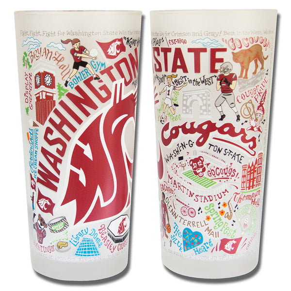 Washington State University Drinking Glasses - Set Of 4 - CityBarnCountryPenthouse