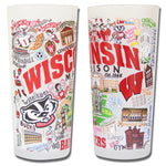 University Of Wisconsin Drinking Glasses - Set Of 4 - CityBarnCountryPenthouse