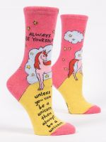 ALWAYS BE YOURSELF UNLESS YOU CAN BE A UNICORN W-CREW SOCKS - CityBarnCountryPenthouse