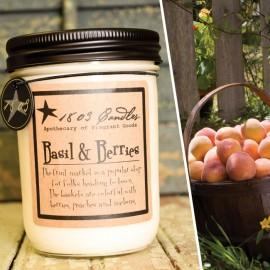 Basil & Berries Soy Jar Candle