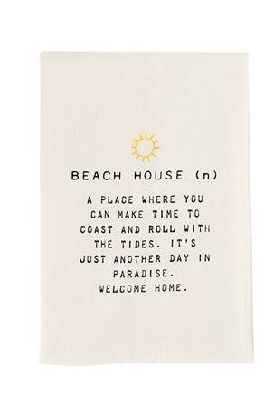 BEACH HOUSE DISH TOWEL - CityBarnCountryPenthouse