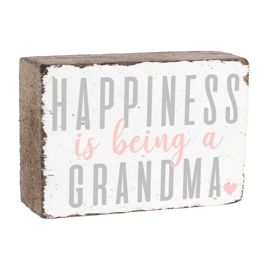 BEING A GRANDMA XL RUSTIC BLOCK - CityBarnCountryPenthouse