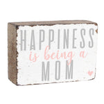 BEING A MOM XL RUSTIC BLOCK
