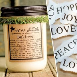 Believe Soy Jar Candle - CityBarnCountryPenthouse