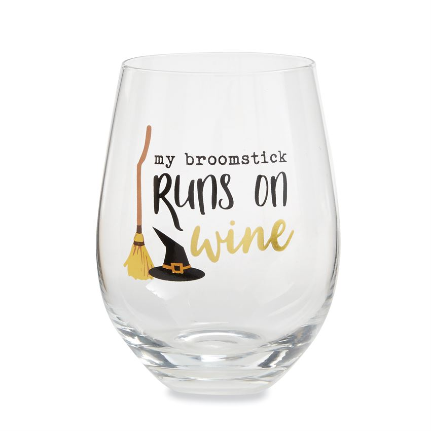BROOMSTICK STEMLESS WINE GLASS - CityBarnCountryPenthouse
